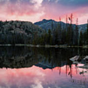 Uinta Sunrise Reflection Art Print