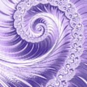 Ultra Violet Luxe Spiral Art Print