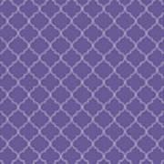Ultra Violet Quatrefoil Art Print