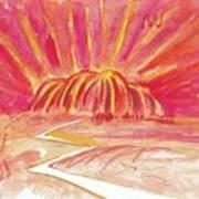 Uluru Lightning Art Print