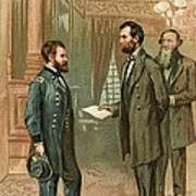 Ulysses S. Grant With Abraham Lincoln Art Print