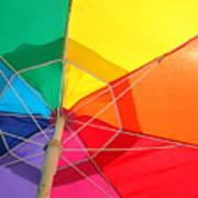 Umbrella In Sunlight Art Print