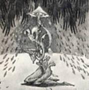 Umbrella Moon Art Print