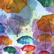 Umbrella Sky Art Print