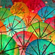 Umbrellas Galore Art Print
