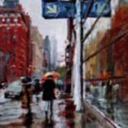 Umbrellas On Amsterdam Aveune Art Print