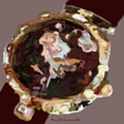 Umbria Florals Timepiece Art Print
