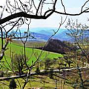 Umbria Mountains Art Print