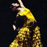 Un Momento Intenso Del Flamenco Art Print