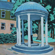 Unc Old Well Art Print