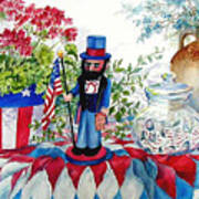 Uncle Sam And Star Cookies Art Print