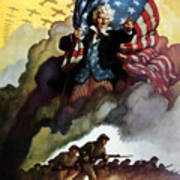 Uncle Sam - Buy War Bonds Art Print