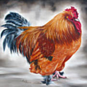 Uncle Samie's Rooster Art Print