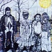 Under A Halloween Moon Art Print
