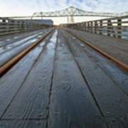 Under Astoria Megler Bridge On Riverwalk Art Print