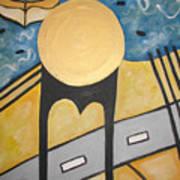 Under Brooklyn Bridge Ny Art Print
