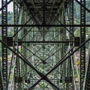 Under Deception Pass Bridge Art Print