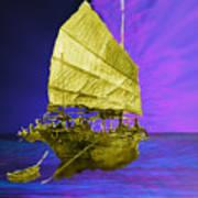Under Golden Sails Art Print