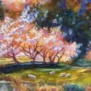 Under The Blossom Trees Sold Art Print