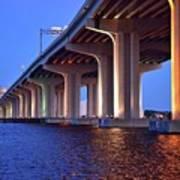 Under The Bridge With Lights 01175 Art Print