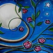 Under The Glowing Moon Art Print