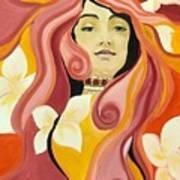 Under The Influence Of Alphonse Mucha Art Print