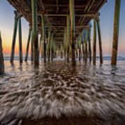 Under The Pier At Old Orchard Beach Art Print