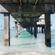 Under The Pier Art Print by Lynn Jackson