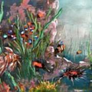 Under The Sea Colors Art Print