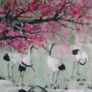 Under The Snow Plums 2 Art Print
