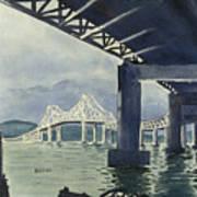 Under The Tappan Zee Bridge Art Print