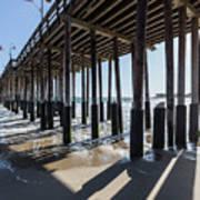Under The Ventura Pier In Southern California Art Print