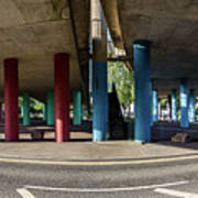 Under The Viaduct A Panoramic Urban View Art Print