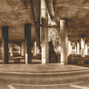 Under The Viaduct B Panoramic Urban View Art Print