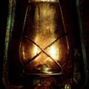 Underground Mining Lamp  Art Print