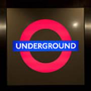 Underground Sign Art Print