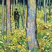 Undergrowth With Two Figures Art Print