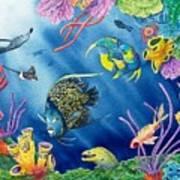Undersea Garden Art Print by Gale Cochran-Smith