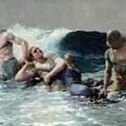 Undertow Art Print by Winslow Homer