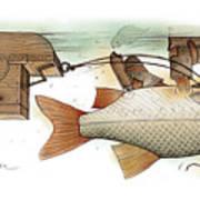 Underwater Art Print by Kestutis Kasparavicius