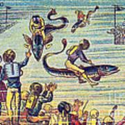 Underwater Race, 1900s French Postcard Art Print