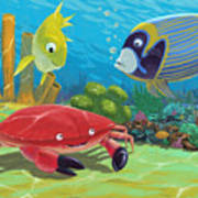 Underwater Sea Friends Art Print