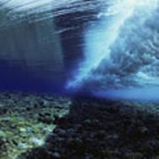 Underwater Wave - Yap Art Print