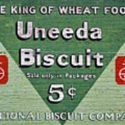 Uneeda Biscuit Vintage Sign Art Print