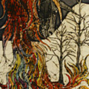 Unicorn And Phoenix Art Print