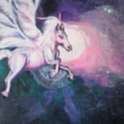 Unicorn And The Universe Art Print