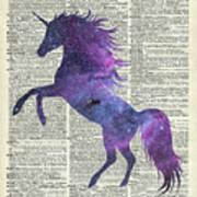 Unicorn In Space Art Print