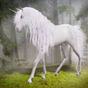 Unicorn In The Forest Art Print