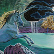 Unicorn Lake Art Print