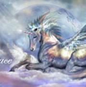 Unicorn Of Peace Card Art Print